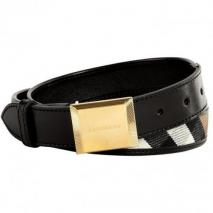Burberry London Black Bridle House Check Henley Belt