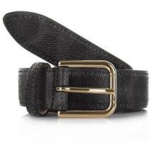 Dolce&Gabbana Cintura Asta Dritta Crespo Leo Grigio 80cm
