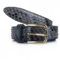 Dolce&Gabbana Cintura Asta Dritta Pitone Con Asfalto 80cm