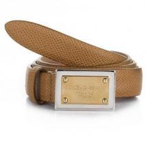 Dolce&Gabbana Cintura Asta Dritta Vitello ST Cammello 80 cm