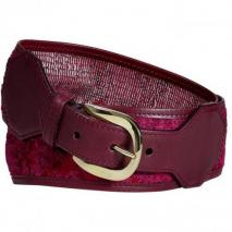 Etro Fuchsia Burn-Out Velvet Belt