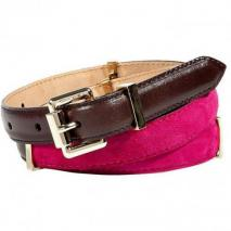 Etro Magenta Pink/Chocolate Narrow Belt
