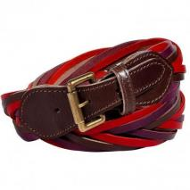 Etro Magenta/Purple Multi Leather String Belt