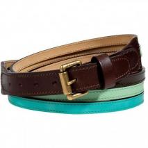 Etro Mint/Sky Triple Patent Belt