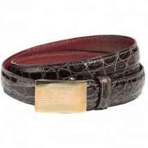 Golden Goose Dark Grey Crocodile Belt