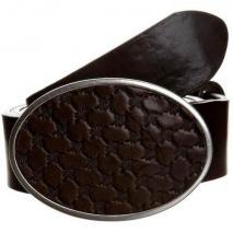 Joop! Gürtel brown mit silberner Vintage-Schnalle