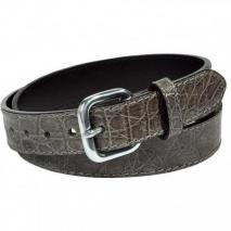 Paolo Vitale Grey Crocodile Leather Belt