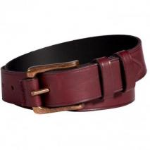 Rag & Bone Burgundy Roller Leather Belt