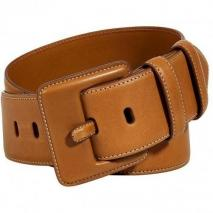 Ralph Lauren Black Honey French Calfskin Belt