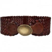 Ralph Lauren Brown Woven Leather Belt