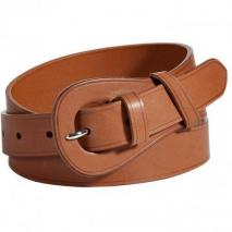 Ralph Lauren Collection Gold French Calfskin Renca Belt