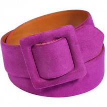 Ralph Lauren Collection Magenta Suede Trench Buckle Belt