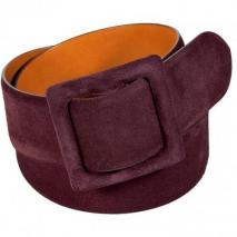 Ralph Lauren Collection Merlot Suede Belt