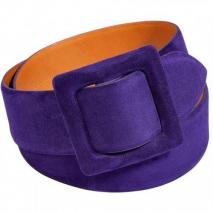 Ralph Lauren Collection Purple Suede Trench Buckle Belt