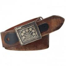 Ralph Lauren Dark Distressed Brown Leather Belt
