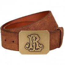 Ralph Lauren Distressed Brown Leather Belt