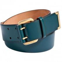 Salvatore Ferragamo Petrol Double-Hole Leather Belt
