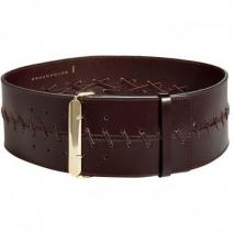 Schumacher Deep Moccha Wide Leather Belt