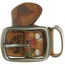 Strong Desert Vintage Schmetterlings-Gürtel beige