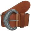 Vanzetti Gürtel brown mit großer Silberschnalle