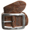 Vanzetti Gürtel brown mit Krokoprägung