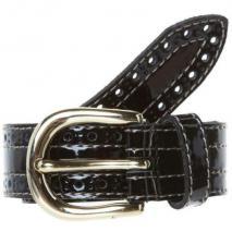 Vanzetti Gürtel schwarz mit Goldschließe