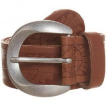 Zign Gürtel brown mit matt-silberner Schnalle