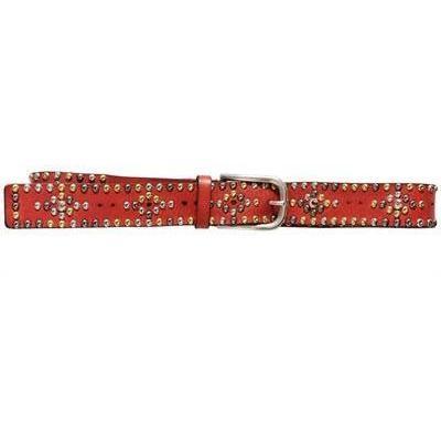 Isabel Marant Ledergürtel mit Nieten Red