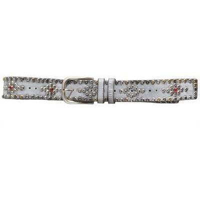 Isabel Marant Ledergürtel mit Nieten Silver
